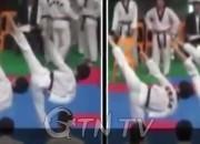 C팀(좌측)의 발차기와 A팀(우측)의 발차기 비교, 일반인이 보아도 C팀의 우세를 알 수 있다. / 사진=TV 조선 방송 캡처