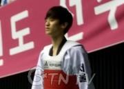 이대훈선수(서울시대표)가 경기 출전을 기다리고 있다. 피곤한 모습이 역력하다./ 사진취재=GTN-TV 경남 이태홍기자