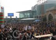 서울역 광장에서 8일  '남침 땅굴 위기해소를 위한 구국기도회'가 열렸다.