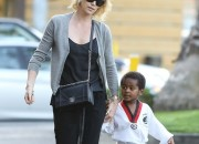 EXCLUSIVE: Charlize Theron and her karate kid make a cute duo