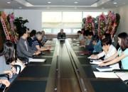 """조정원 WTF 총재가 6월 30일 WTF 서울본부에서 전 직원에게 인사말을 하고있다.   이 자리에서 조 총재는 """"전 직원이 합심하여 새롭게 달라진 WTF, 최고의 IF(국제스포츠연맹)를 만들어 나가자""""고 말했다."""