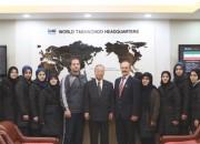 국기원을 방문한 이란 여자 대표팀 선수들과 감독